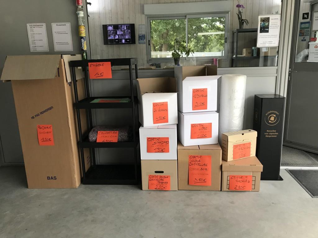 cartons à vendre