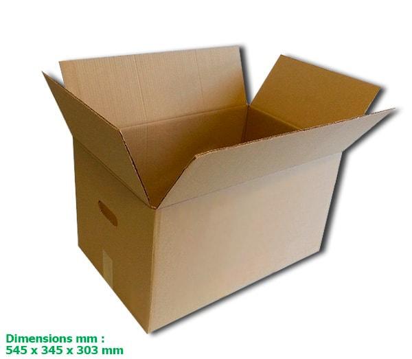 Cartons double cannelure avec poignée